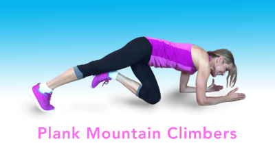 Plank Mountain Climbers - 3 Minute exercise while watching TV